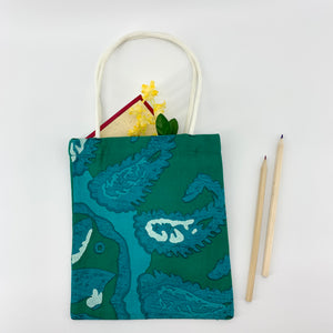 SET OF 3; Eco-Friendly Small Gift Bags in Green