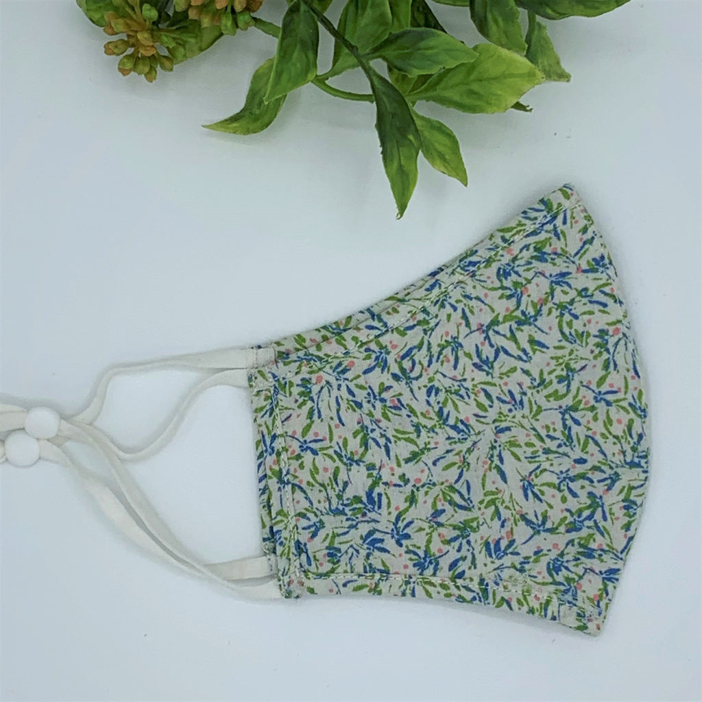 Adjustable Cotton Face Mask; All Season Masks; Fern - 2 Sizes