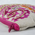Handcrafted Embellished LARGE CLUTCH with intricate Bead work & Embroidery