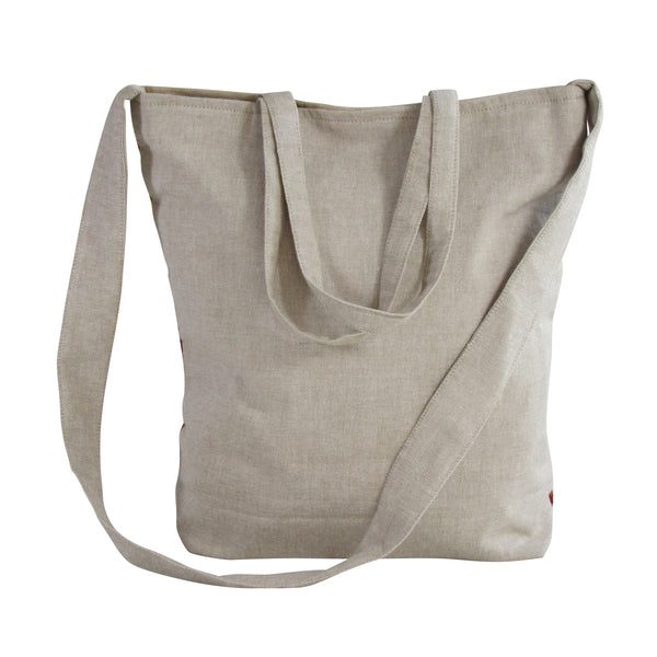 Woven; LARGE TOTE with both- Handle and Shoulder Strap