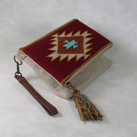 Traditional Ari Embroidery CLUTCH Bag; Double Fold