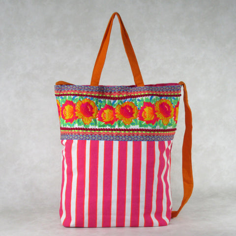 Embroidered TOTE with Hand Embroidery