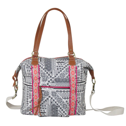 WEEKENDER Woven Canvas TOTE with Detachable Strap