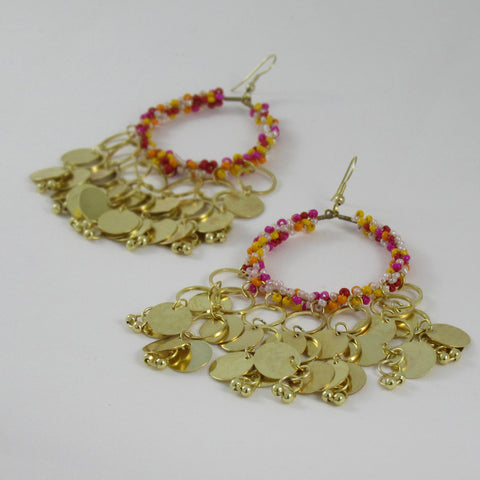 Coin inspired Earrings: Bohemian Collection