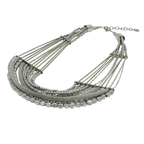 Uniquely Crafted Chain with Metal Beads Necklace: Bohemian Collection