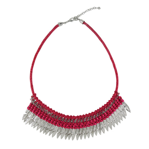 Uniquely Crafted Thread & Metal Necklace: Bohemian Collection