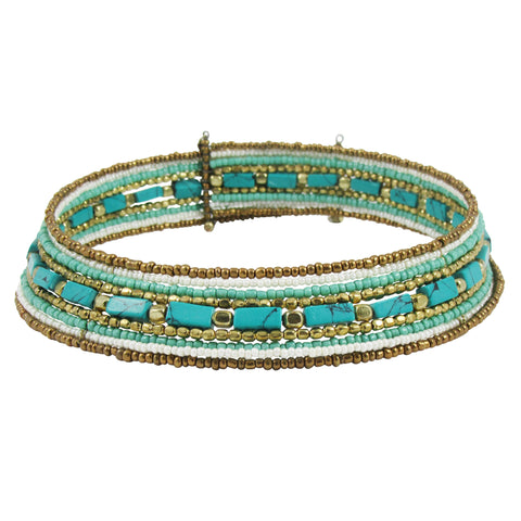 Bead Handcrafted Collar Necklace: Bohemian Collection