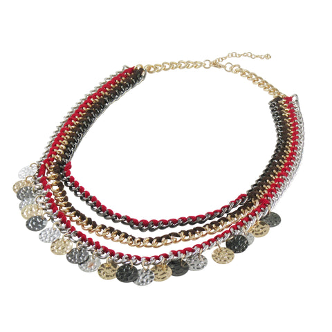 Multi layered strings and 3 tone coins: Bohemian Collection