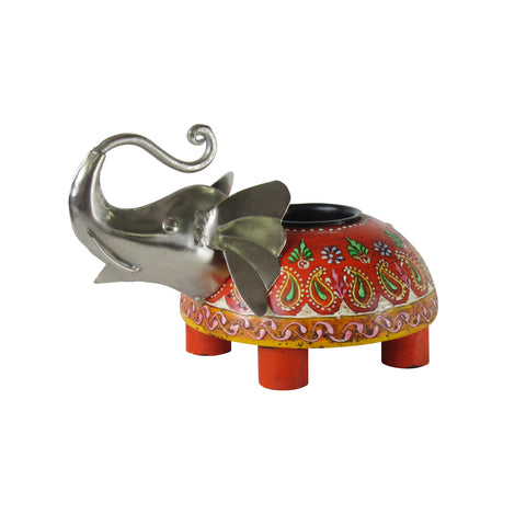 Elephant Tea Light Holder: Handcrafted