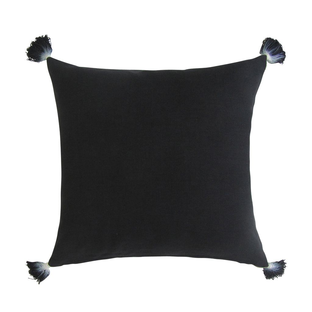 REVERSIBLE Square Pillow with Insert - TAN & BLACK On Back Order