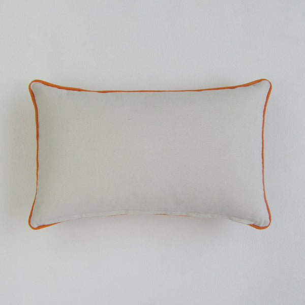 IT'S BACK! Orange & White Leaf Embroidered Boudoir Pillow Cover