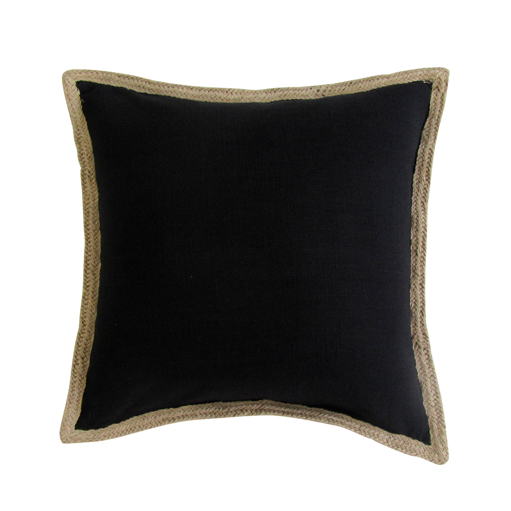 Jute Border, Square Accent Pillow with Insert - SOLD OUT