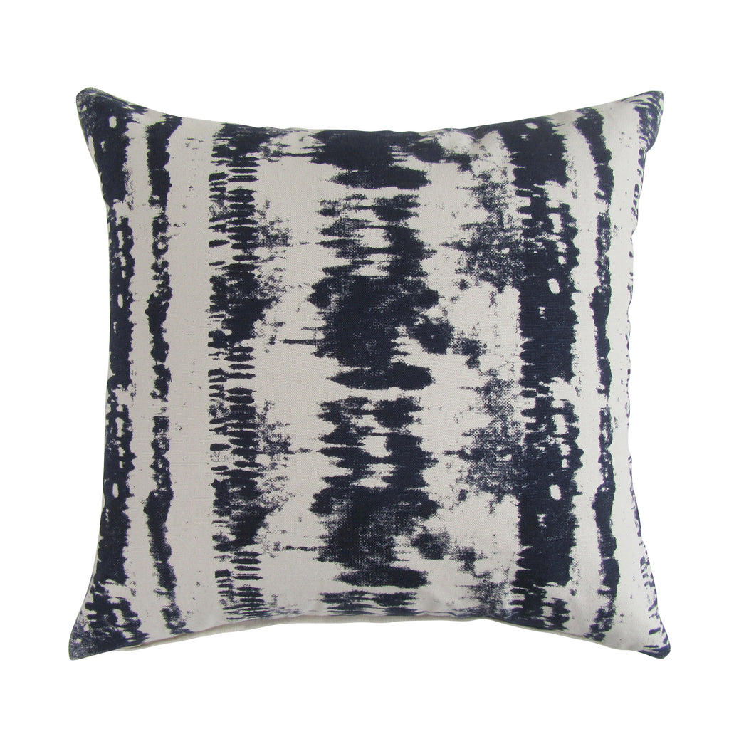 Tie-Dye Square Printed Accent Pillow with Insert - Berry Blue ON BACK ORDER