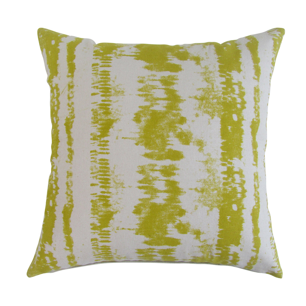 Tie-Dye Square Printed Accent Pillow with Insert - Pear Green ON BACK ORDER