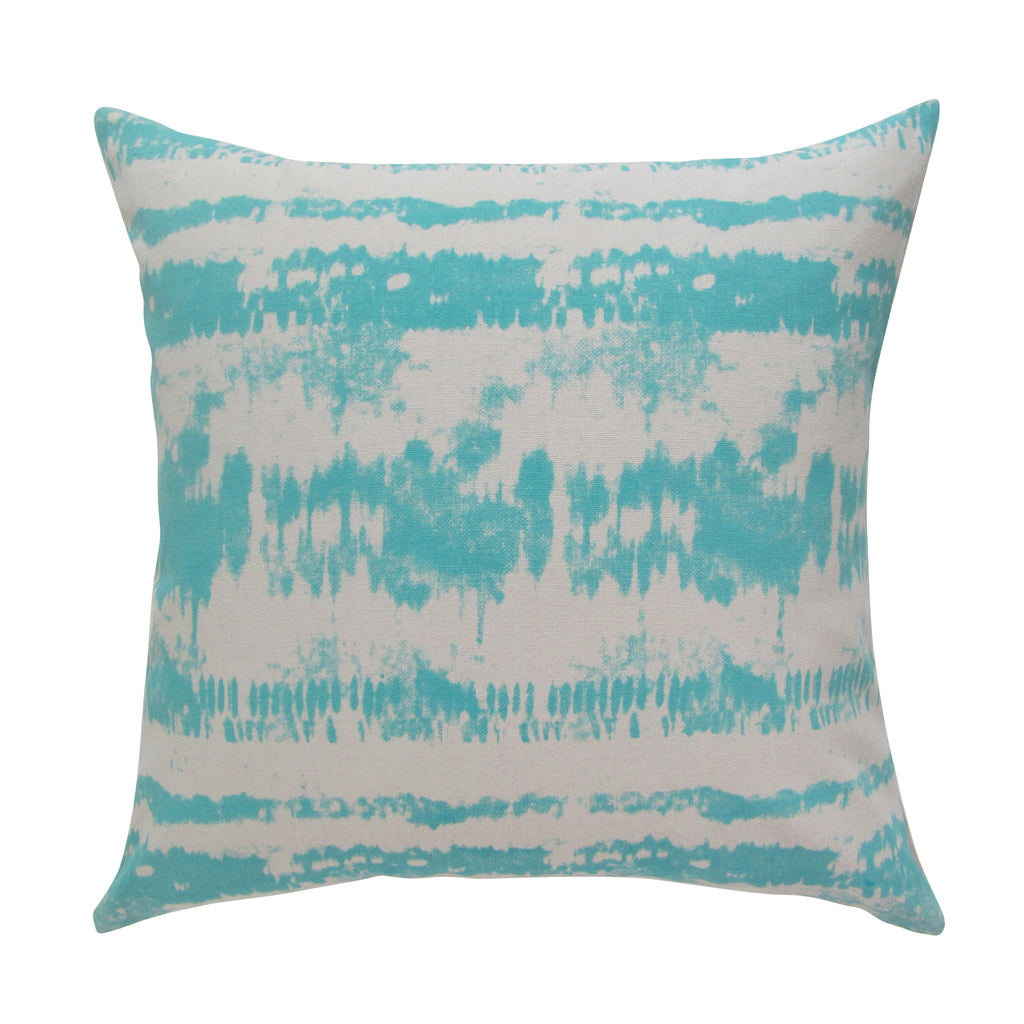 Tie-Dye Square Printed Accent Pillow with Insert - Aqua ON BACK ORDER