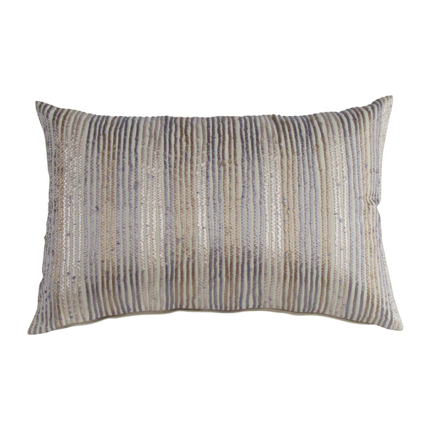 Embroidered Stripes- Multi Color Boudoir Pillow Cover