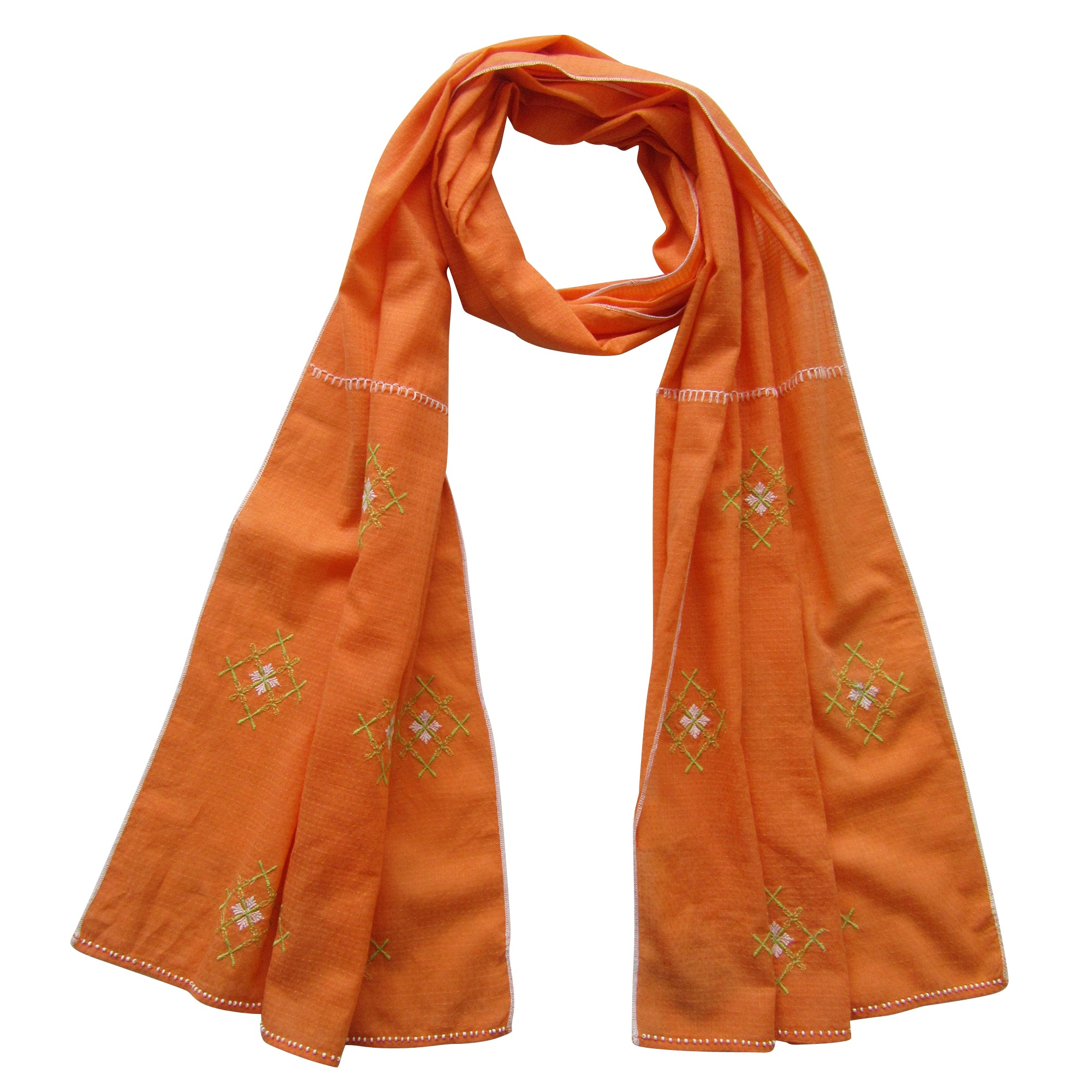 Embroidered Scarf : The Sun n Sand Sea CORAL