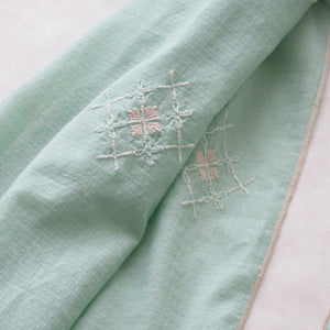 Embroidered Scarf : The Fall PISTACHIO GREEN
