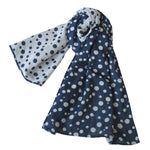 Reversible Dotted Scarf; Silver Lurex Dots