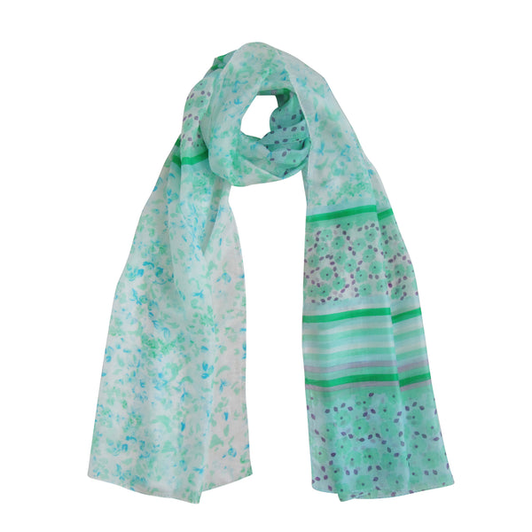 Dual Design MANTIS GREEN; SILK Scarves