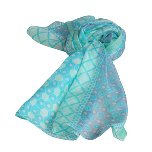 Geometric Inspired; SLIM SILK Scarves