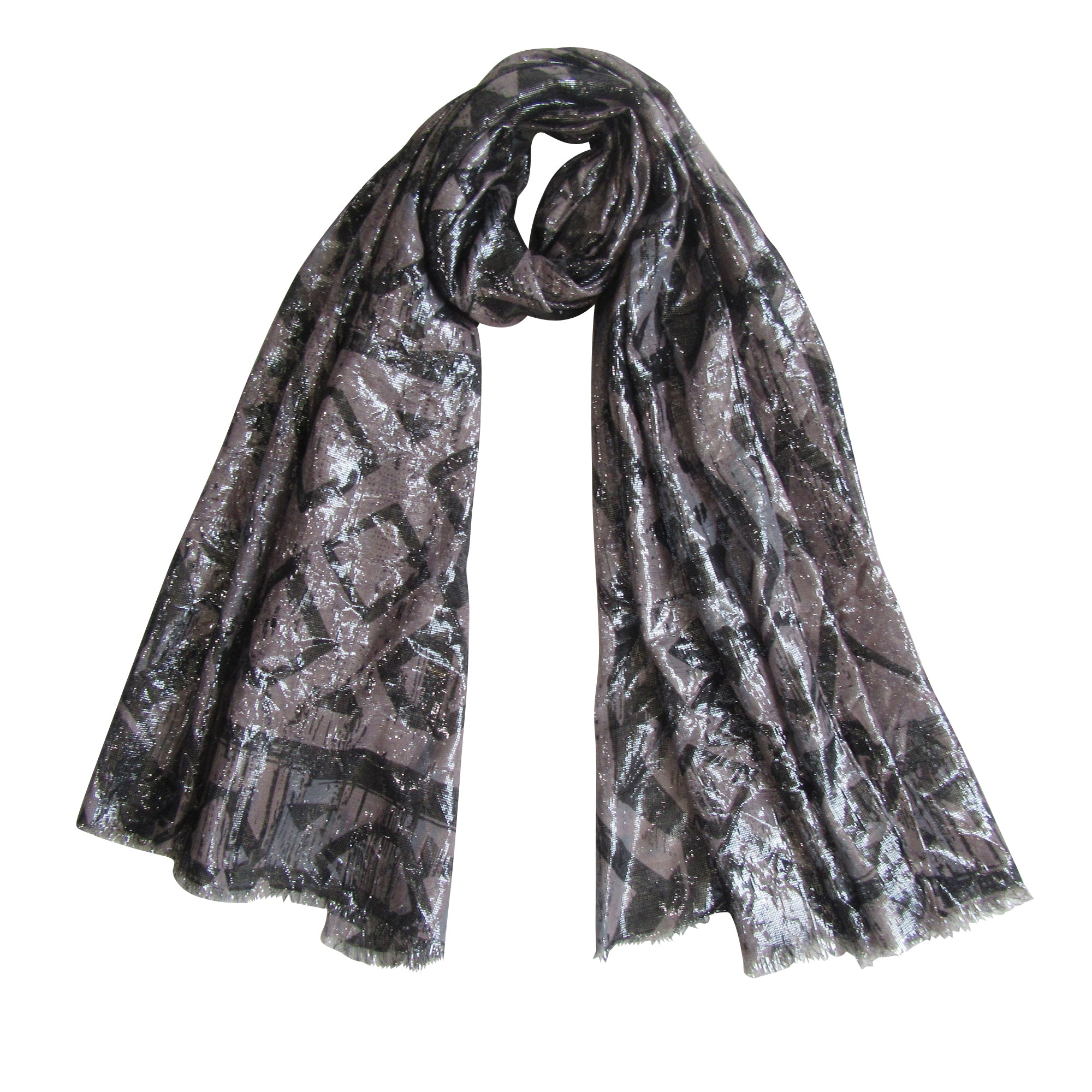 Lurex Evening Scarves; Design in Self