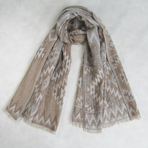 Winter Wool Collection; Aztec Design Scarf