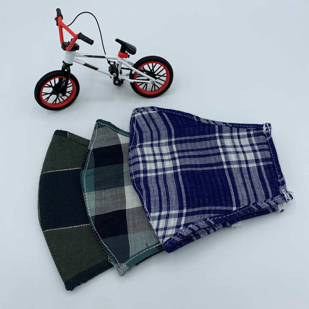 Masks for Kids; XS and Small; Fall Winter Plaids