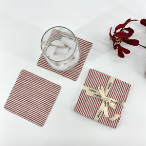 Linen Fabric Coasters, Set of 4