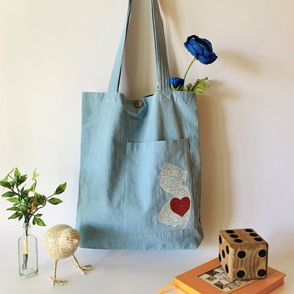 NJ Heart & Denim Collection Tote Bags - Handbags - Ladys Tote Bag - bag