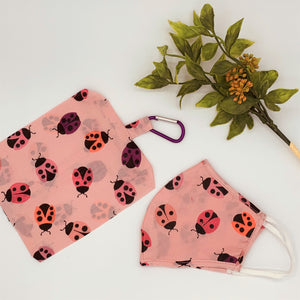 Fabric Reusable Face Mask - Lady Bug; Various Sizes (Kids - Adults)