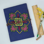 Embroidered Journal for Kids and Adults : Blue