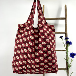 Foldable Reusable Market and Grocery Bags : LARGE
