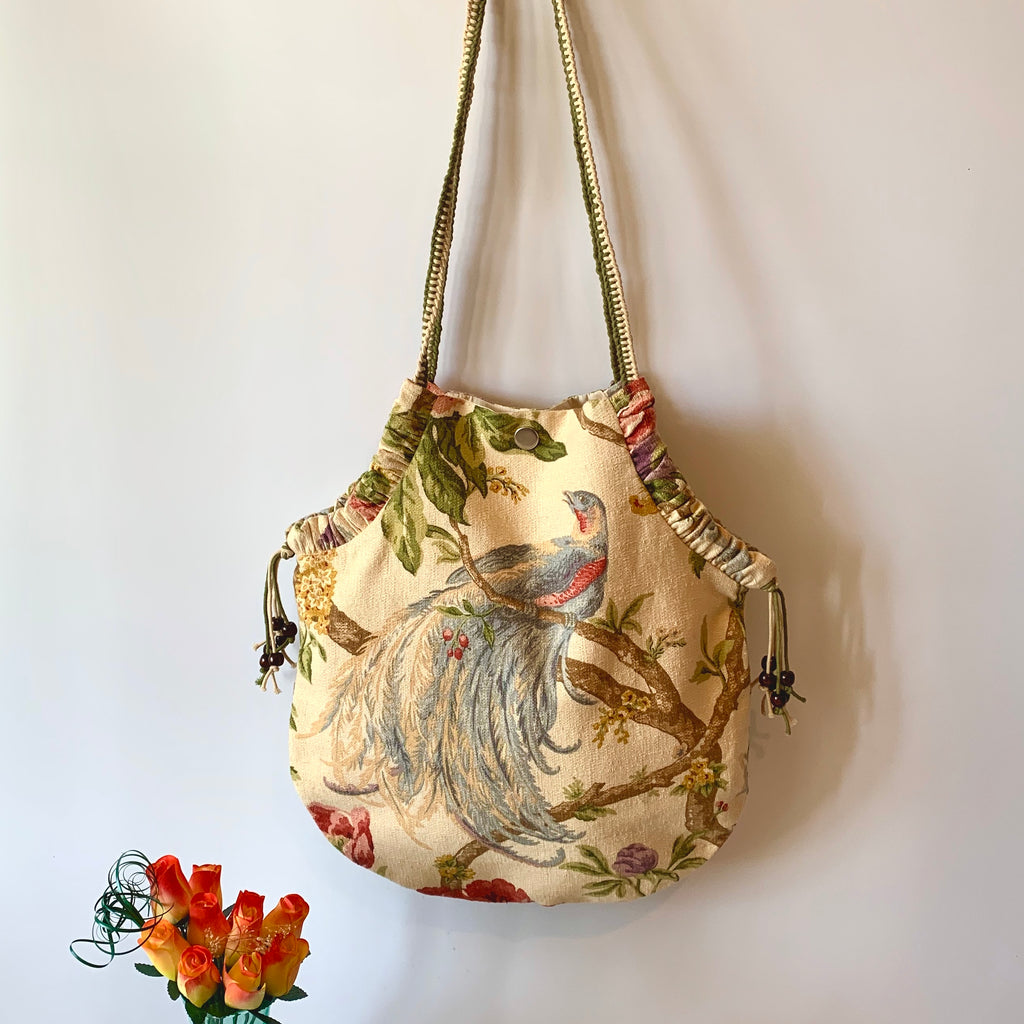 Handcrafted and Up-cycled U-Shaped Shoulder Bag