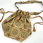 Handcrafted Unique Large Drawstring Shoulder Bag
