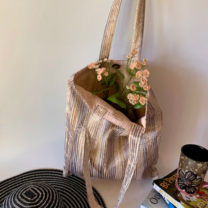 Handcrafted Up-cycled Large Durable Tote Bag