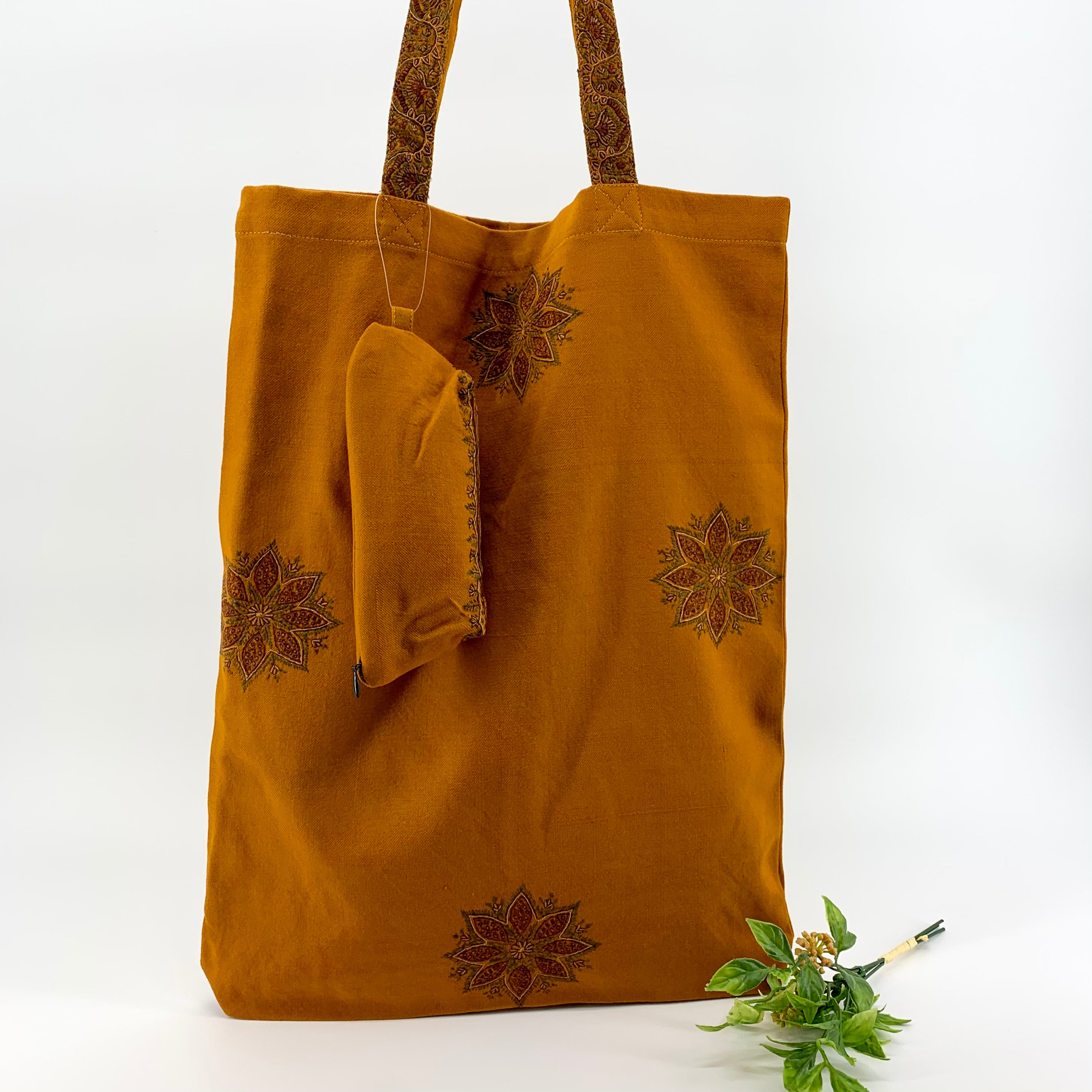 Handcrafted Multipurpose Large Tote Bag with Zipper Pouch