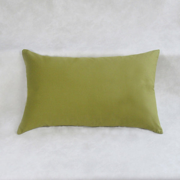 Olive Green Lightly Embroidered Lumber Pillow Cover
