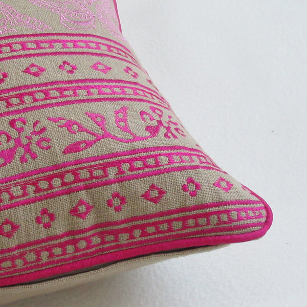 IT'S BACK!! Fuchsia and Blush Pink Boudoir Pillow Cover