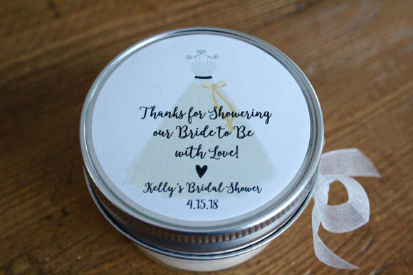 Bridal shower favors, bridal shower candle favors, wedding favors for guests, wedding candle favor