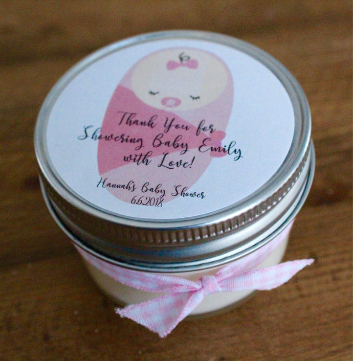 Baby Girl Shower Baby Girl Shower Favors Baby Shower Candle Favors