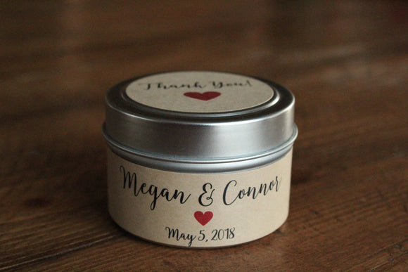 Wedding favor candles,tin wedding favors,rustic wedding favors,candle wedding favor candle favors