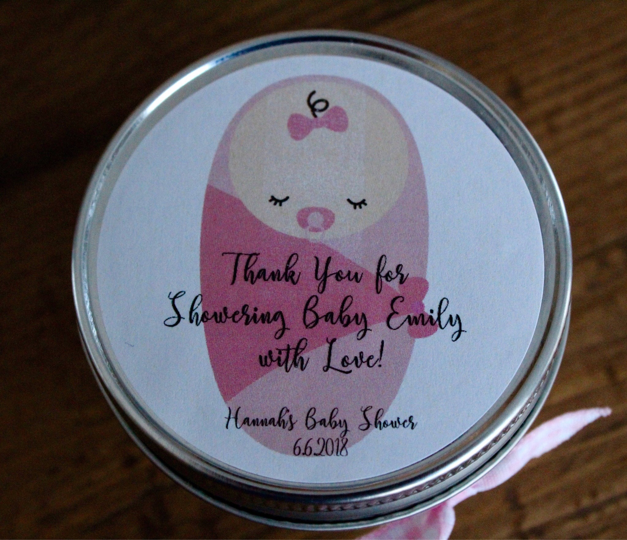 Baby Shower Favors Baby Girl Themed Candle Favors Pink Girl Shower Favors