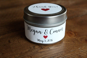Wedding favor candles, candle wedding favor, wedding favor tins, wedding favors, candle favors