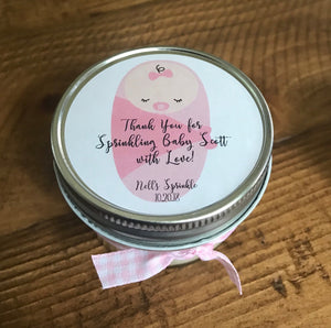 baby girl, baby sprinkle, baby sprinkle favors, baby shower, baby shower favors, baby girl shower favors, candle favors baby shower, candle