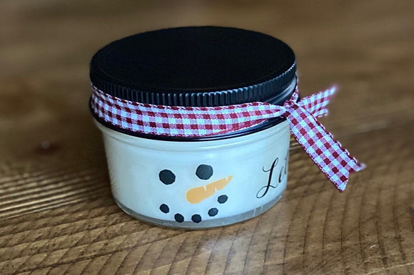 Holiday Candles, Christmas Candles, Christmas party favors, Soy Candles, Christmas Gift, Candle favors, snowman candle, snowman decor