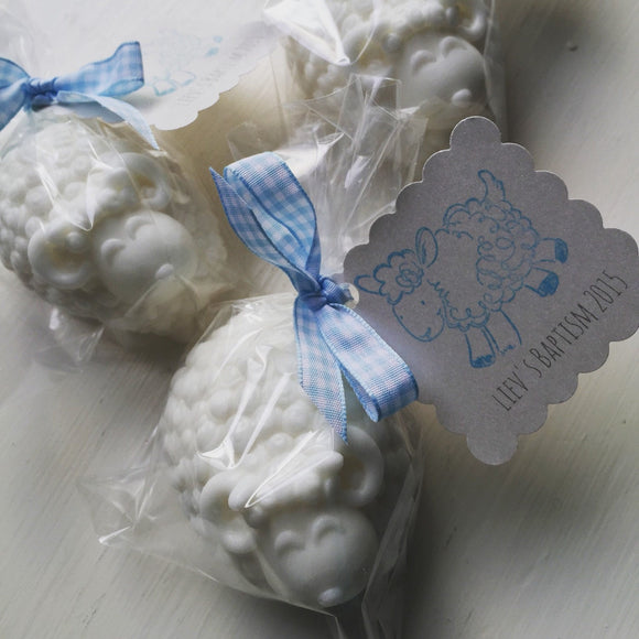 Baptism favors, christening favors, baby shower favors, lamb favors, baby lamb, its a boy, shower, christening, baptism