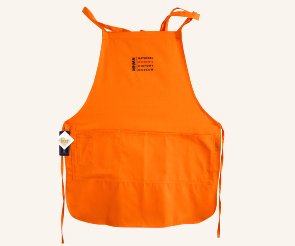 Embroidered Four-Pocket Apron - Orange