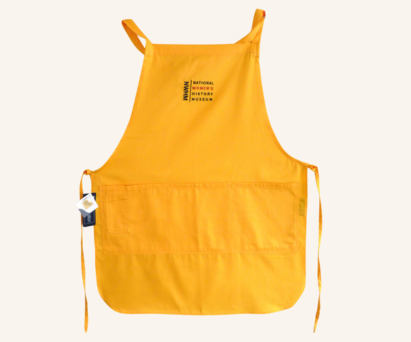 Embroidered Four-Pocket Apron - Yellow