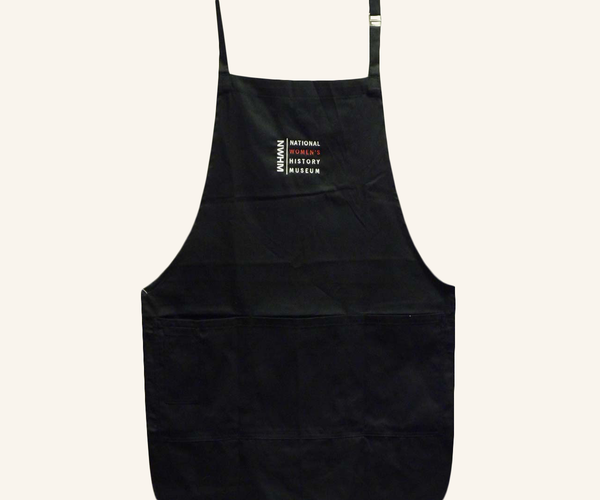 Embroidered Four-Pocket Apron - Black